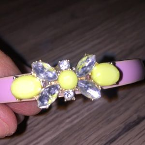 Bangle bracelet pink and yellow